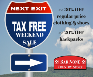 texas tax free weekend sale