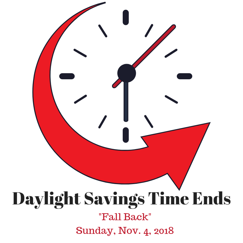time change 2018 fall back