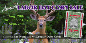 labor day deer corn sale