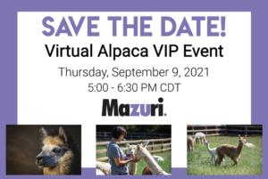 virtual alpaca vip event