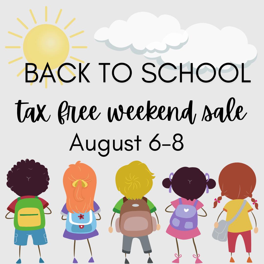 back to school texas tax free weekend sale
